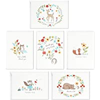 Hallmark Baby Shower Thank You Cards Assortment, Woodland Animals (48 Cards with Envelopes for Baby Boy or Baby Girl…
