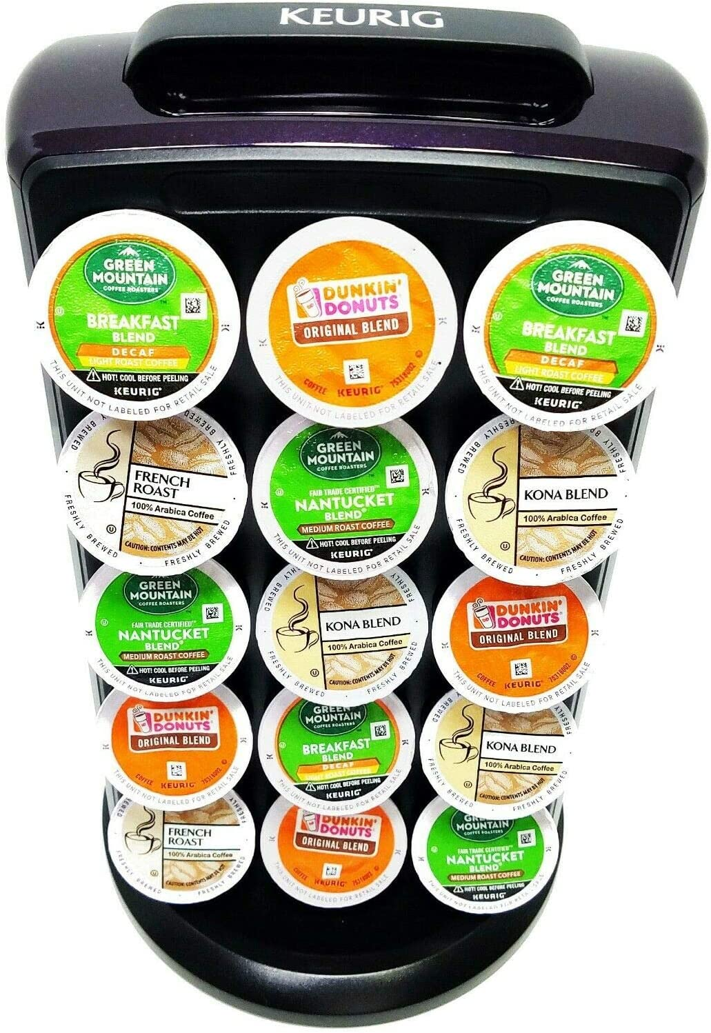 Amazon.com: K Cup Carousel Tower by Keurig Holds 30 Of Your Favorite  Flavors (Eggplant Color): Home & Kitchen