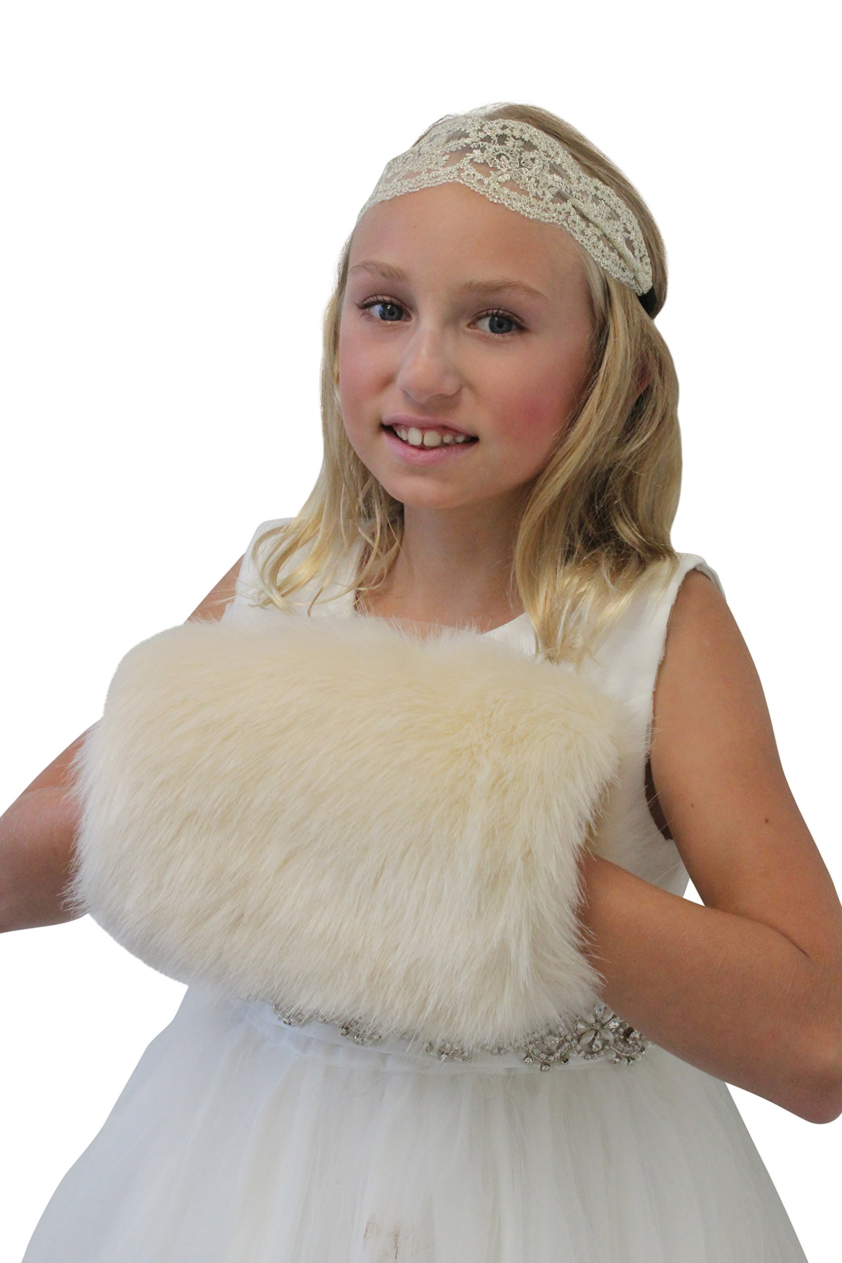 Champagne Faux Fur Hand Muff for CHILD Size M