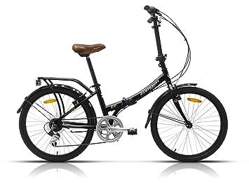 Megamo Maxi Bicicleta Plegable de Paseo, Unisex Adulto, Negro, M