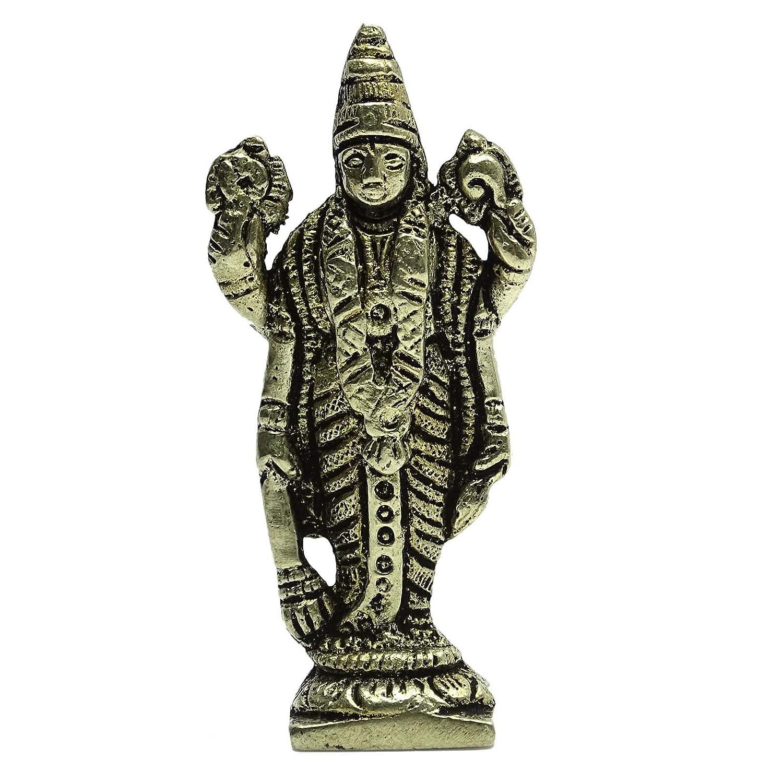 Señor de metal Decoración de latón Narayan estatua metálico del oro decorativo del tablero de instrumentos del coche de regalo