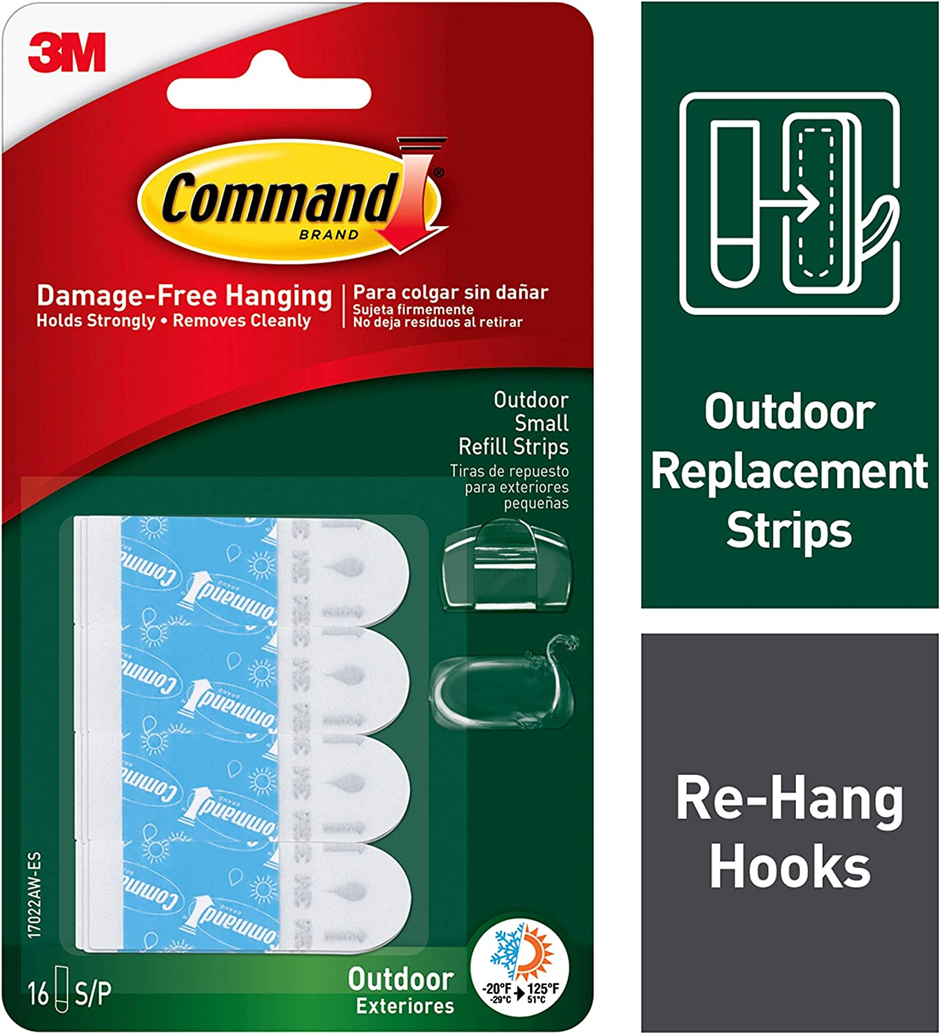 Command Outdoor Replacement Strips (17022AW-ES)
