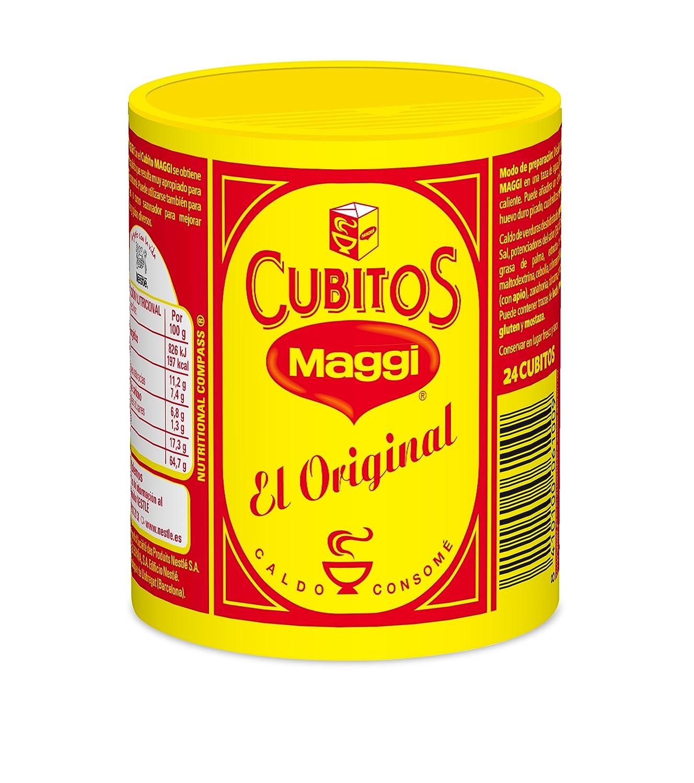Maggi Pastillas para Caldo en Cubitos - Caldo Deshidratado - 24 pastillas para caldo: Amazon.es: Alimentación y bebidas