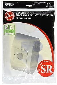 Hoover Paper Bag, Type Sr Duros Canister (Pack of 3)