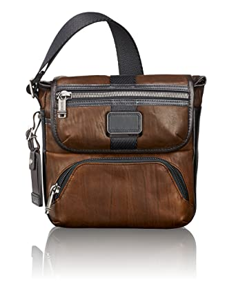37c15c3776fc TUMI - Alpha Bravo Barton Crossbody Bag - Leather Satchel for Men and Women  - Dark