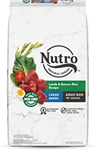 NUTRO NATURAL CHOICE Large Breed Adult Dry Dog Food, Lamb & Brown Rice Recipe Dog Kibble, 40 lb. Bag