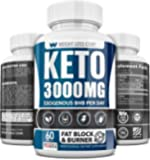 Keto Diet Pills - 3000MG - Exogenous BHB - Made in USA - Professional Certified Facility - 60 Capsules of Ketosis…