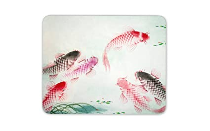Pond Fish Dad Brother Fishing Gift PC Computer #8736 Koi Carp Mouse Mat Pad