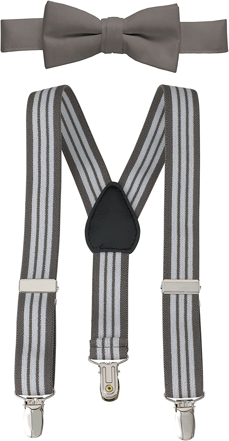 Suspender and Bow Tie for Kids and baby Sturdy Polished Clips-Purple 26