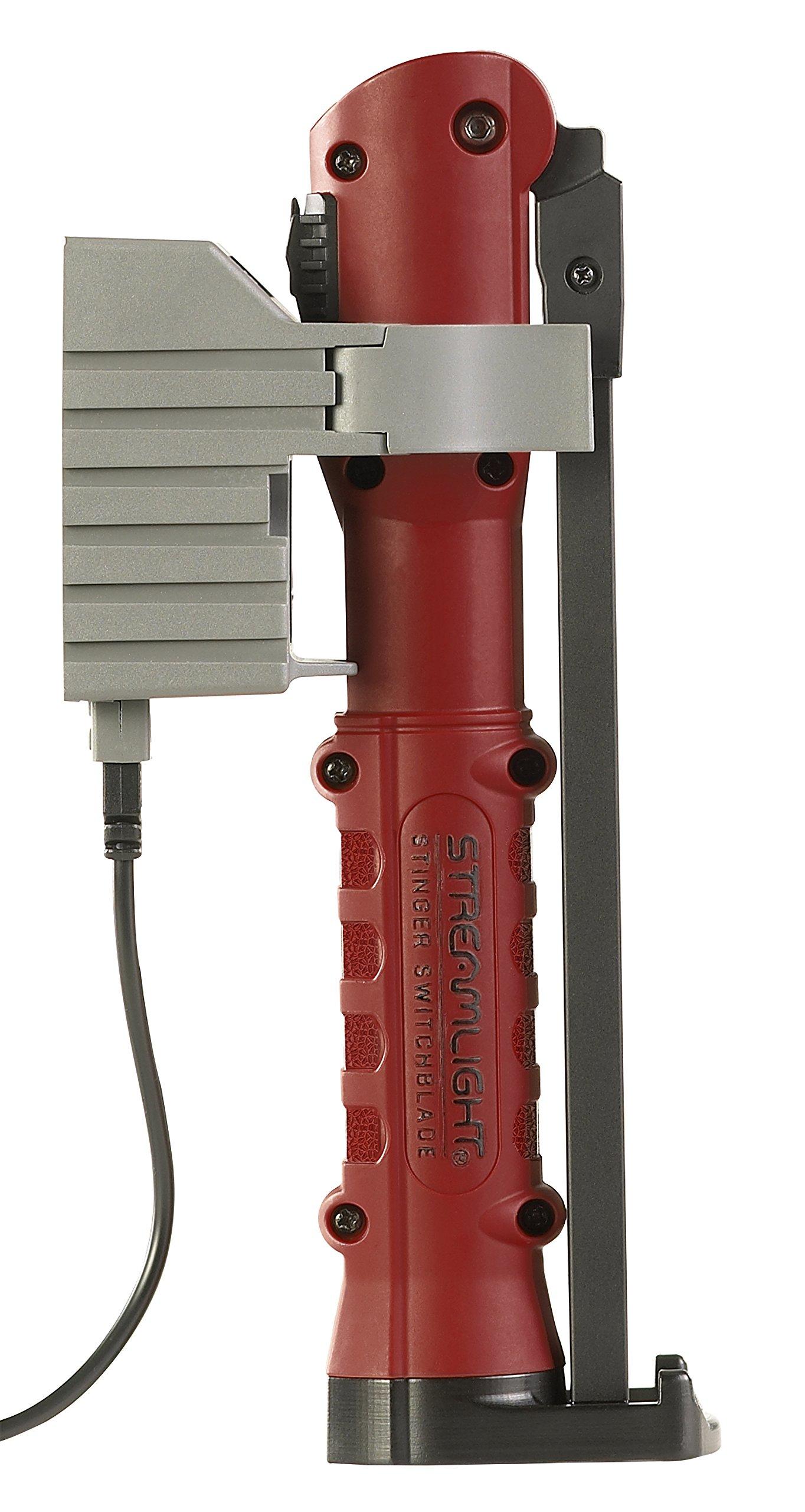 Streamlight 76801 Stinger Switchblade 20V/100V AC 1 Holder Red Flashlight by Streamlight