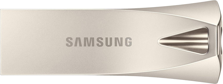 Samsung BAR Plus 256GB - 300MB/s USB 3.1 Flash Drive Champagne Silver (MUF-256BE3/AM)