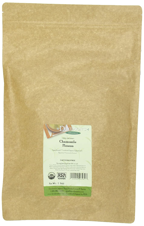 Davidson's Tea Bulk, Herb Chamomile Flower, 16 Ounce