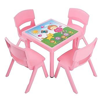 Dajar Gartenmobel Sets Kinderstuhl Jumbo Rosa Amazon De Garten