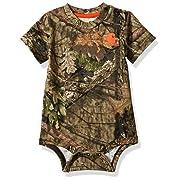Carhartt Baby Boys Short Sleeve Bodysuit, Camo (Mossy Oak), 9M