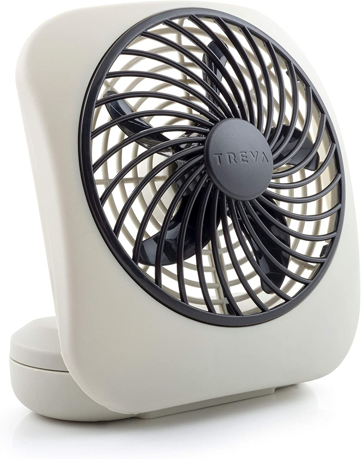 "O2COOL 5"" Portable Fan Battery Powered, 1 Unit, Grey: Home & Kitchen"