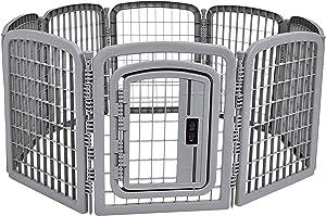 AmazonBasics 8-Panel Plastic Pet Pen Cage Playpen