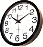 "Wall Clock, Linear Co. Large Black and White Silent Wall Clock Non-ticking 12"" 30cm Large Easy to Read Modern Executive Decorative Practical Analog Quartz Sweep Movement Round Stylish"