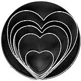 Fox Run 3680 Heart Cookie Cutter Set, Stainless Steel, 5-Piece