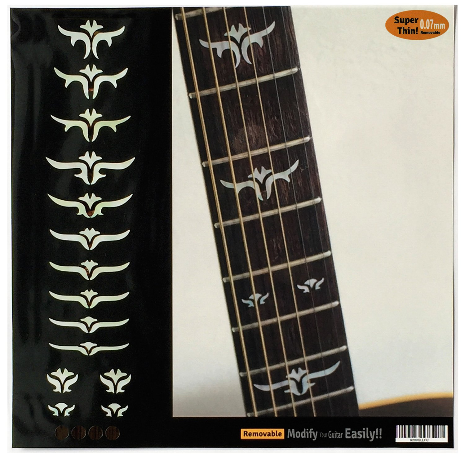 Fretboard Markers Inlay Sticker Decals for Guitar Bass - Tailored Leaves (WS) jockomo F-100TL-WT