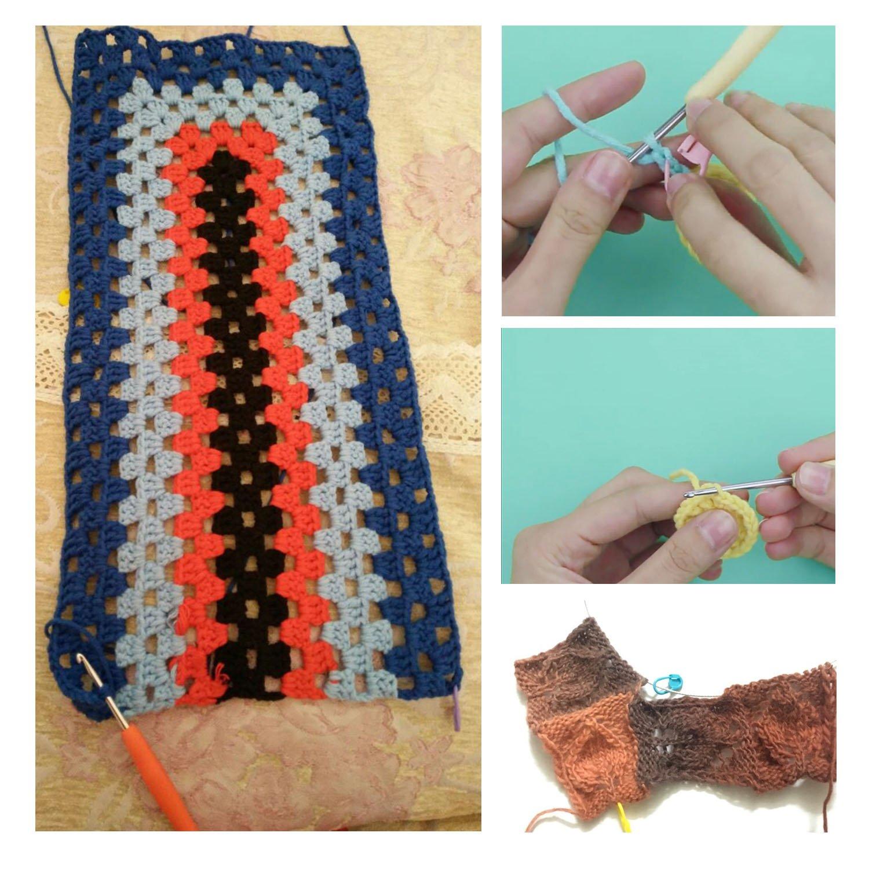 Luxebell 11pcs Ganchillos Crochet Ergonómicos, Agujas de Punto ...