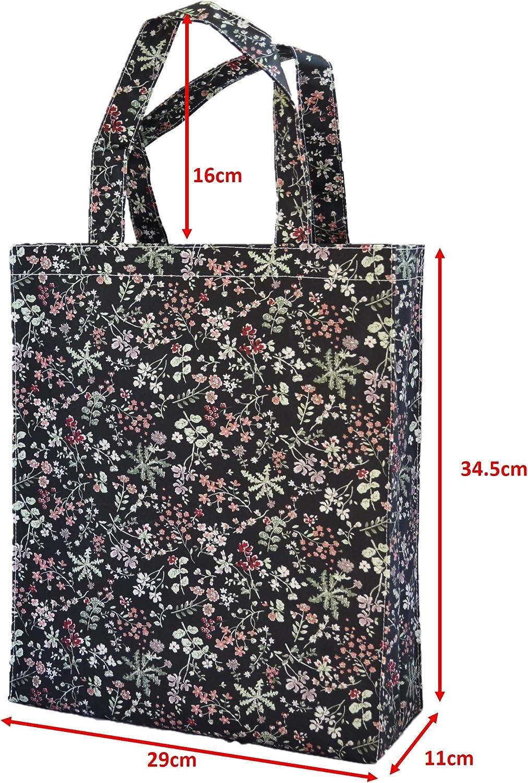 bolso de compras impermeable Bolsa -Buho negro bolso de oilcloth SturdyFoot Bolso del libro con el gusset Bolsas de la compra reutilizables bolso de totalizador bolso de la m/úsica