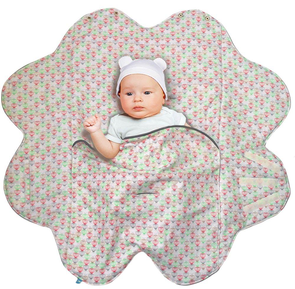 68190ec28052a0 Wallaboo Babynomade Couverture enveloppante Heart Couverture pour ...