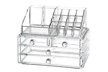 Image Unavailable. Image Not Available For. Color: Clear Cosmetic Organizer  Acrylic ...