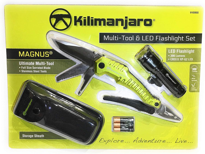 Kilimanjaro Magnus Multi Tool /& LED Flashlight Set Kit Stainless Tools