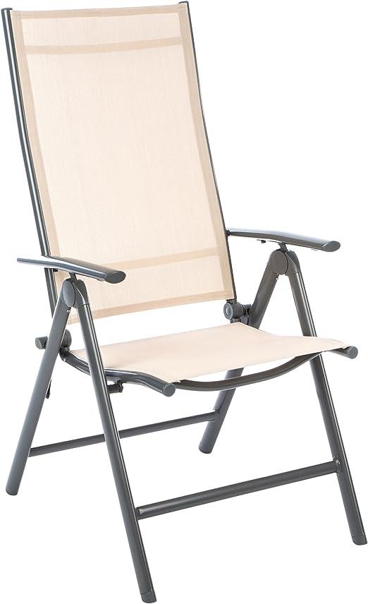 Set di 2 sedie pieghevoli in alluminio multi posizione Sgabello Sedia Da Giardino Terrazza NUOVO