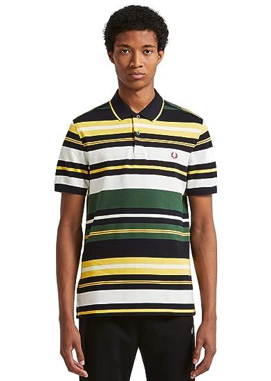 118c425e95 Fred Perry Men's Bold Stripe Polo Shirt M5504 145 Tartan Green:  Amazon.co.uk: Clothing