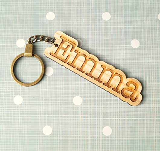 Amazon.com  Personalized wooden keychain 195603d6ae