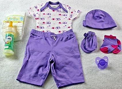 Amazon.com: Reborn muñeca ooak Baby Girl Onesie pantalones ...