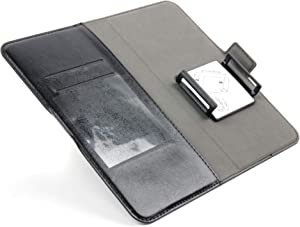 DURAGADGET Foladable Black Faux Leather Smartphone Case - Compatible with Blu Dash L5 LTE | R1 HD (2018) | Studio View XL | VIVO X | Vivo XI-Plus & Vivo XL3 Plus