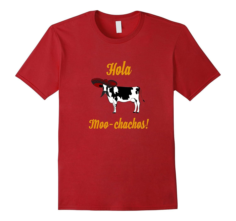 Hola Muchachos Humor - Funny Cinco de Mayo Cow Tee-Vaci