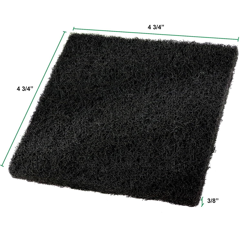 Estilo EST146B Set of 8 Compost Pail Filters 4 Round and 4 Square Black Set of 8 2-