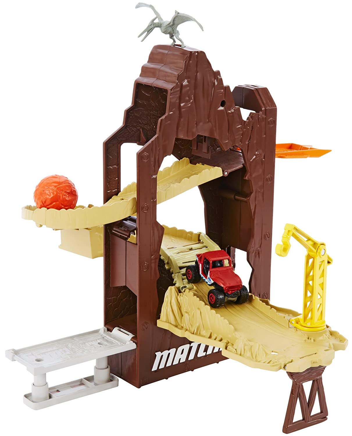 A Matchbox Jurassic World Portable Island Escape Playset