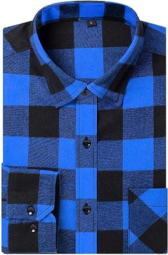 DOKKIA - Camisa de franela de manga larga para hombre: Amazon.es: Ropa y accesorios