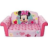 Marshmallow Furniture 2-In-1 Flip Open Foam Minnie Mouse Children's Sofa