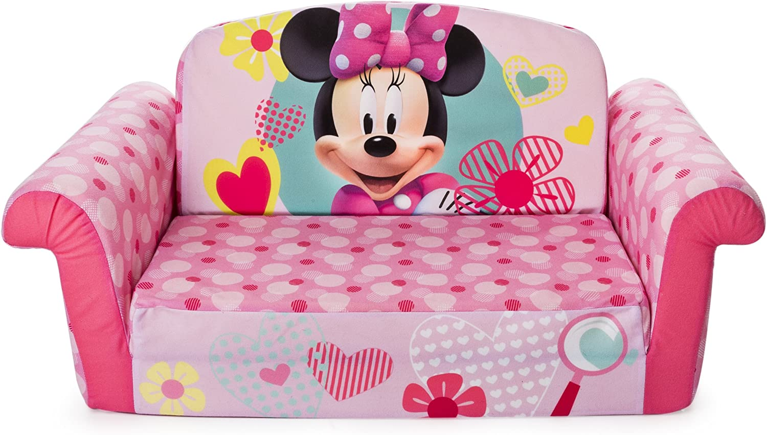 Marshmallow Furniture, Children's 2 in 1 Flip Open Foam Sofa, Minnie Mouse, by Spin Master