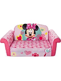 Marshmallow Furniture, Childrens 2 in 1 Flip Open Foam Sofa, Minnie Mouse, by