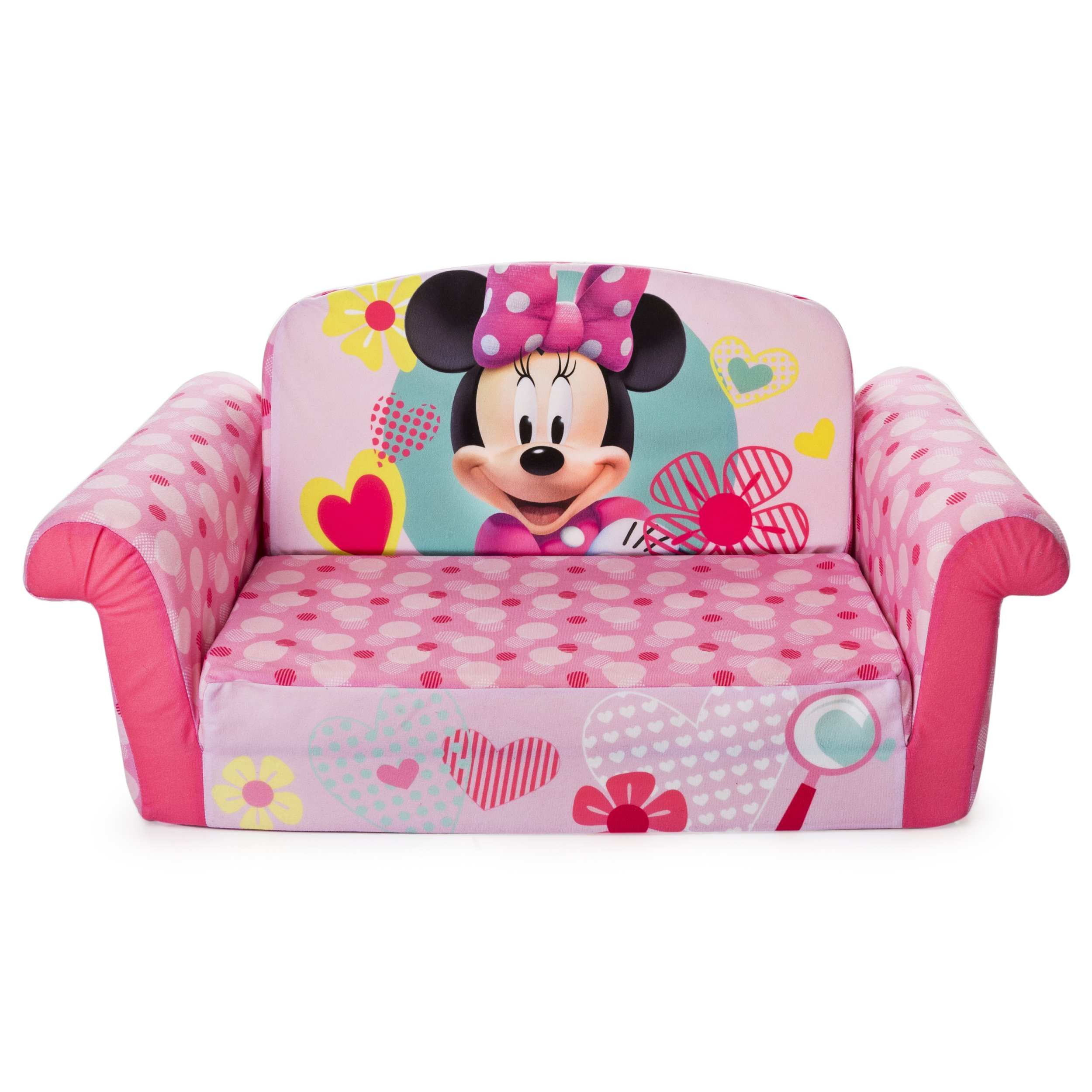 Marshmallow Furniture, Children's 2 in 1 Flip Open Foam Sofa, Minnie Mouse, by Spin Master by Marshmallow Furniture