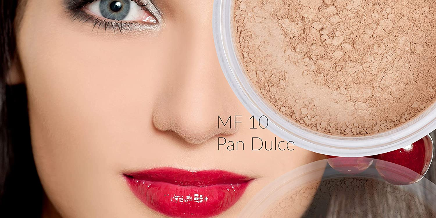 Amazon.com : Itay Loose Powder Foundation Travel Size Foundation - All Natural Mineral Makeup By Itay Mineral Cosmetics (MF10 - Pan Dulce) : Beauty