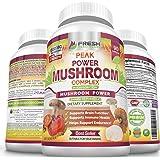 Premium 6 Mushroom Immune Support Supplement, 90 Vegan Capsules of Peak Power Complex with Lions Mane, Cordyceps, Reishi…