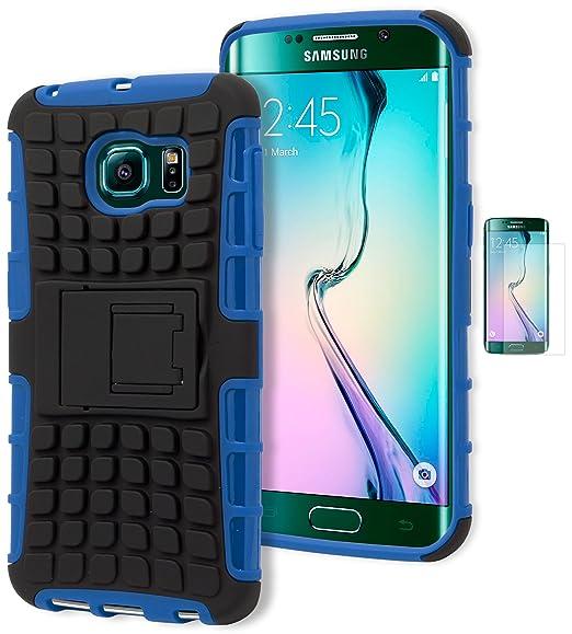 amazon com galaxy s6 edge phone case, bastex heavy duty rugged bluegalaxy s6 edge phone case, bastex heavy duty rugged blue silicone cover hard black tire