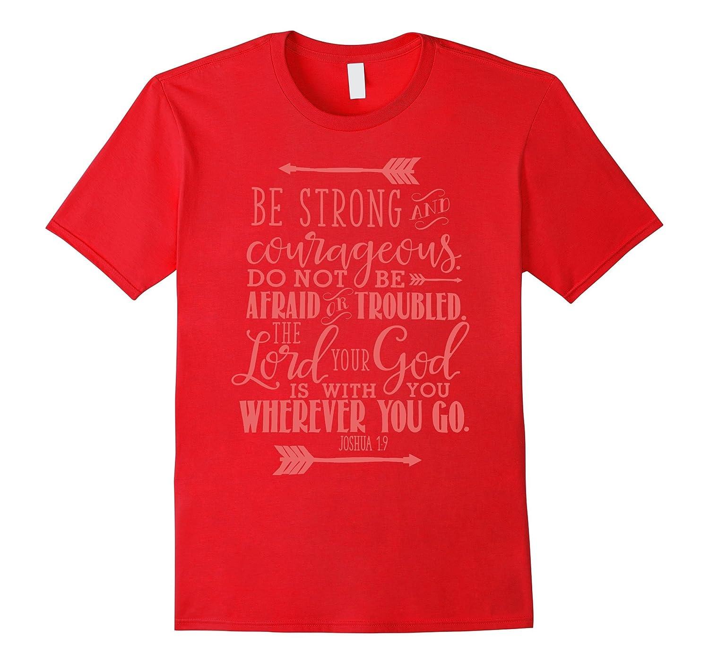 Bible Verse T-Shirt Quote - JOSHUA 19 Red-TH