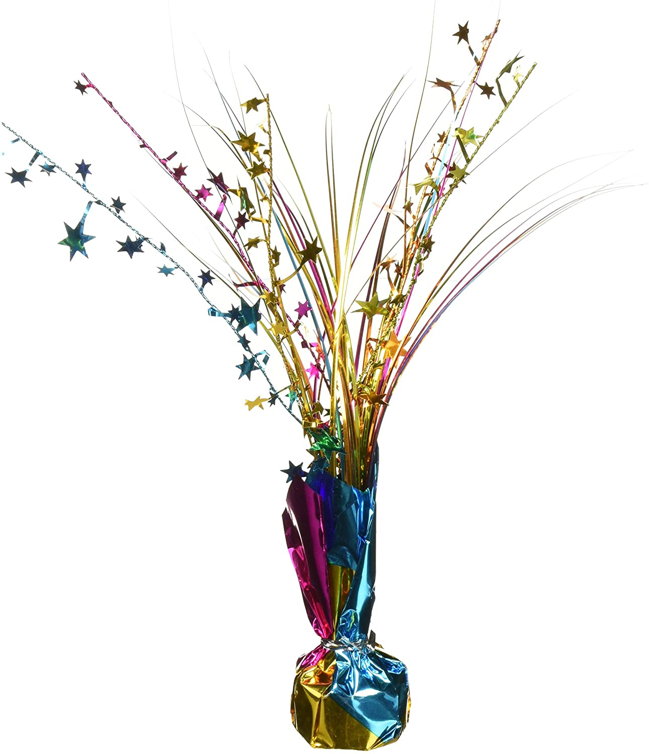 Foil Spray Centerpiece - Multicolor|Party Décor, 12""