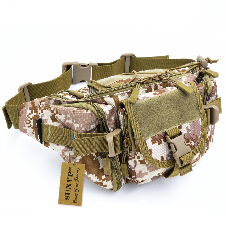 Sunvp tattico militare attendere bag Pack Fanny borsa Bumbag hip marsupio per corsa all' aperto campeggio trekking escursionismo, Desert Camouflage Y102