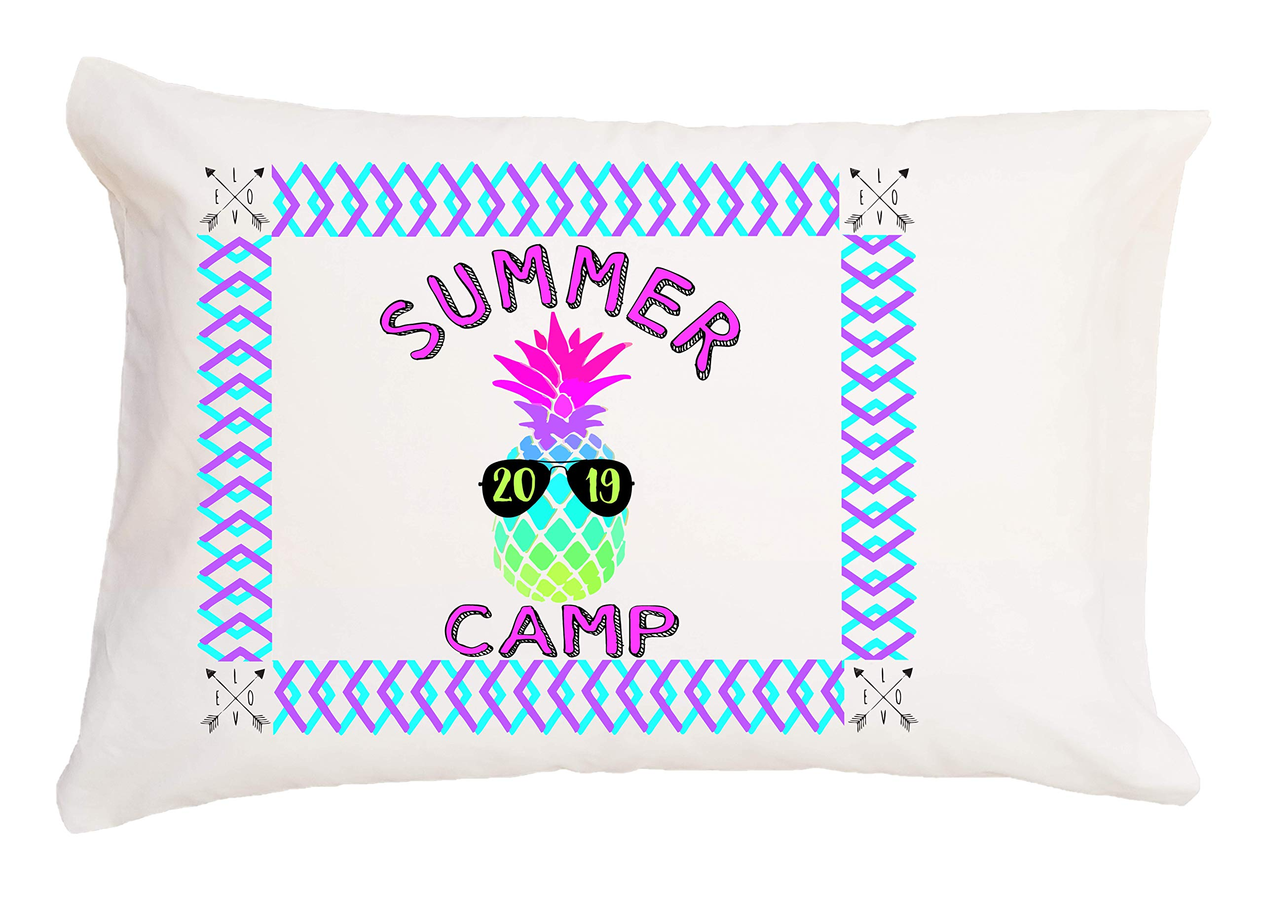 Bunnies and Bows Pineapple Summer Camp Autograph Pillowcase with Pen