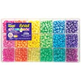 The Beadery Sparkles Pony Bead Box - approximately 2300 beads