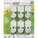 1600-Lumen T3 Spiral Light Bulb with Medium Base 3-Pack 100-watt replacement GE Lighting 00262 Energy Smart Spiral CFL 23-Watt
